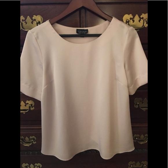 Topshop Tops - TopShop ladies blouse size 6 very pale pink